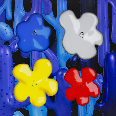 Philip Colbert, 'Flower Study from the Lobster Land Museum (Blue, White, Yellow Red)', 2020