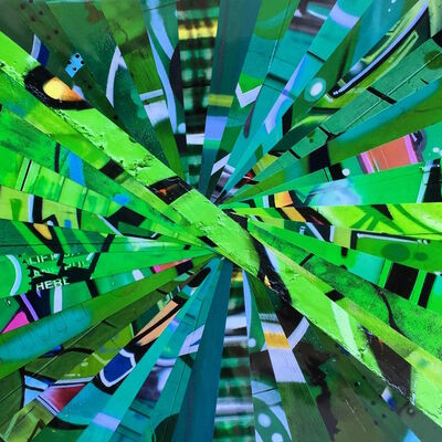 Nicola Katsikis, 'Warp Speed Green', 2016