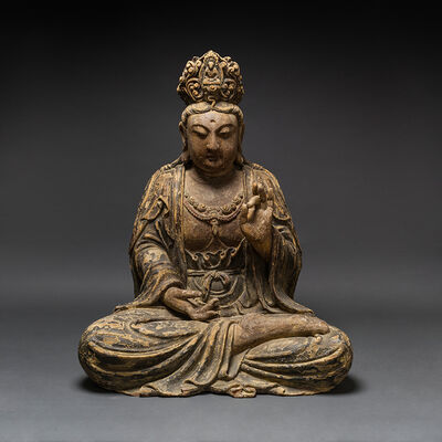Unknown Chinese, 'Ming Wooden Seated Bodhisattva', 1368-1644