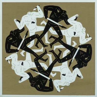 Cleon Peterson, 'Eclipse II (Gold)', 2017