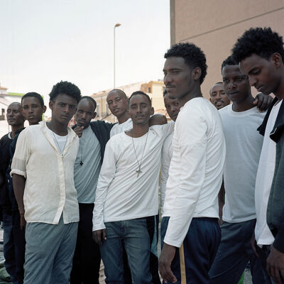 Daniel Castro Garcia, 'Eritrean Christian men, Catania, Sicily, Italy, June 2015, from the series 'Foreigner'', 2015