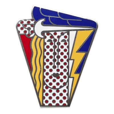Roy Lichtenstein, 'Modern Head Brooch', 1968