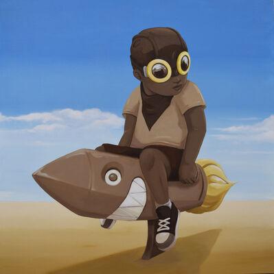 Hebru Brantley, 'Boy on Rocket', 2018