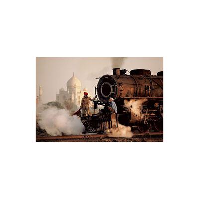 Steve McCurry, 'Taj and Train, India', 1983