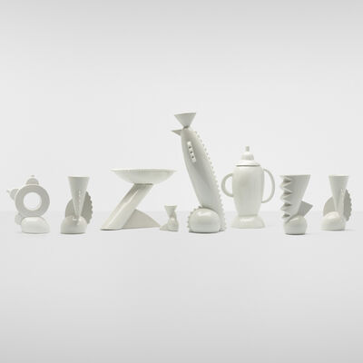 Matteo Thun, 'Collection of eight vessels', 1982