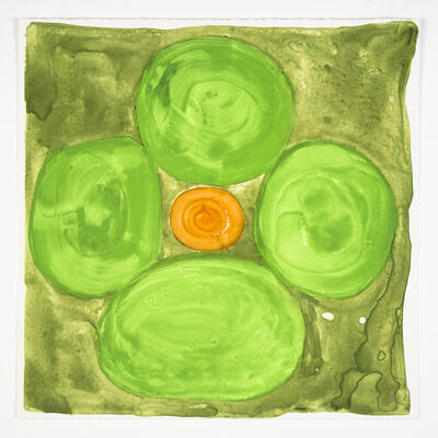 Judy Ledgerwood, 'Inner Vision: Spring Green + Olive', 2020