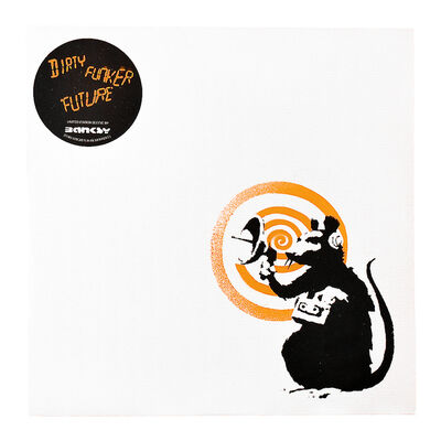 Banksy, 'DIRTY FUNKER RADAR RAT (Orange Cover Album) ', 2008