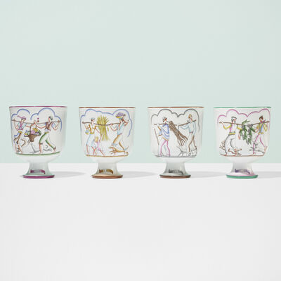 Gio Ponti, 'Le quattro stagioni vases, set of four', c. 1930