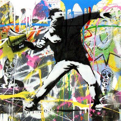 Mr. Brainwash, 'Banksy Thrower (19) ', 2015