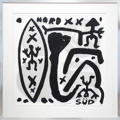 A.R. Penck, 'Nord-Süd - North-South', 1994