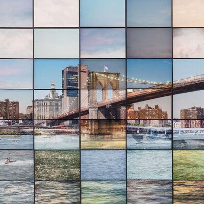 Max Farina, 'CRONORAMA | NYC 04 | Variation_01 | NewYork, Mosaic Photography, Brooklyn Bridge', 2019