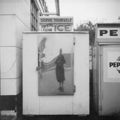 Vivian Maier, 'VM19XXW03519 – Self-Portrait, n.d. Self-Portrait Ice Box', Printed 2017