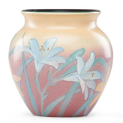 Kataro Shirayamadani, 'Vellum vase with lilies (uncrazed)', 1926
