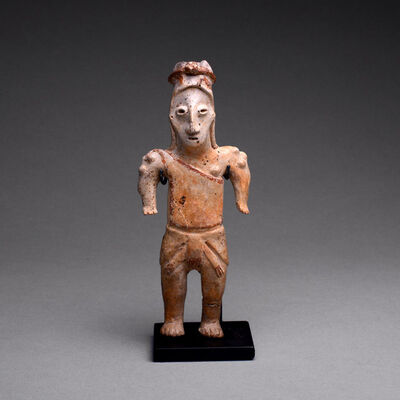 Jalisco, Mexico, 'Jalisco Sculpture of a Standing Man', 300 BC to 300 AD