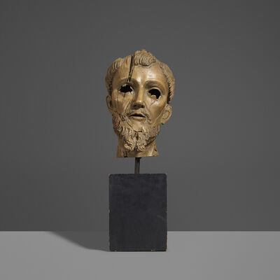 Unknown Spanish, 'Santo Head', 18th Century