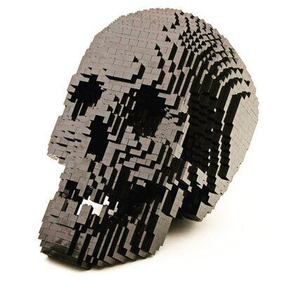 Nathan Sawaya, 'Skull Black', 2012