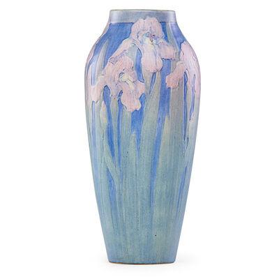 Anna Frances Simpson, 'Fine large vase with pink irises, New Orleans, LA', 1921