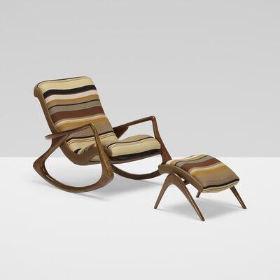 Vladimir Kagan, 'Sculpted Rocking Chair and Ottoman', c. 1953