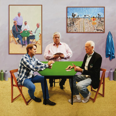 David Hockney, 'A Bigger Card Players', 2015