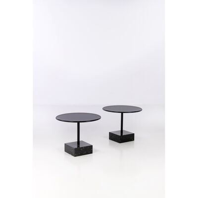 Ettore Sottsass, 'Primavera - Pair of pedestal tables', circa 1990