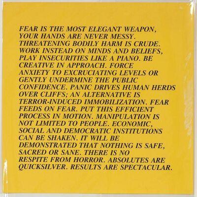 Jenny Holzer, 'Fear - Inflammatory Essays', 1982