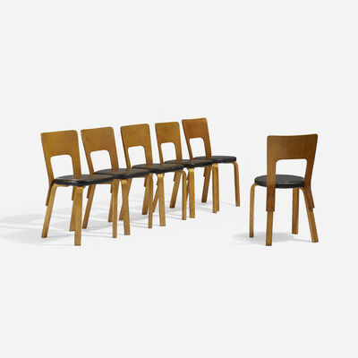 Alvar Aalto, 'L-Leg Dining Chairs, Set of Six', c. 1935