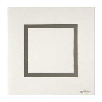 Sol LeWitt, 'Square (from Geometric Figures)', 1986