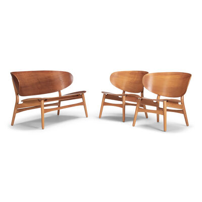 Hans Jørgensen Wegner, 'A bench and two easy chairs', 1948