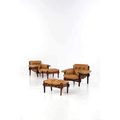 Sergio Rodrigues, 'Moleca - Pair of Armchairs and Ottomans', 1957