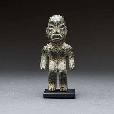 Unknown Pre-Columbian, 'Olmec Greenstone Sculpture of a Standing Man', 900 BC to 500 BC