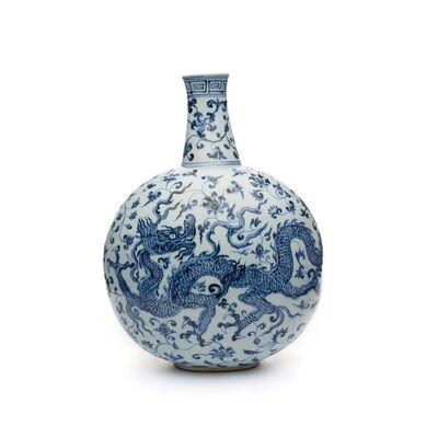 N/A, 'Flask. China, Jiangxi province.', Ming Period, early 15th century (probably Yongle era, 1403–1424).
