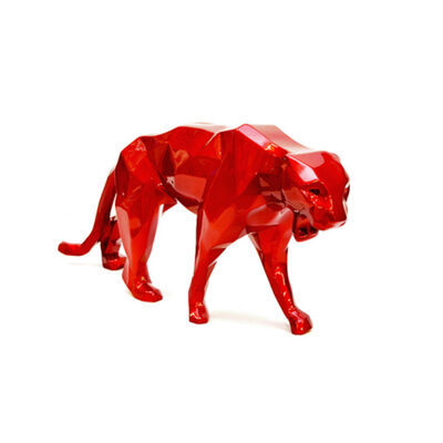 Richard Orlinski, 'Wild Panther - Rouge flamme', 2020