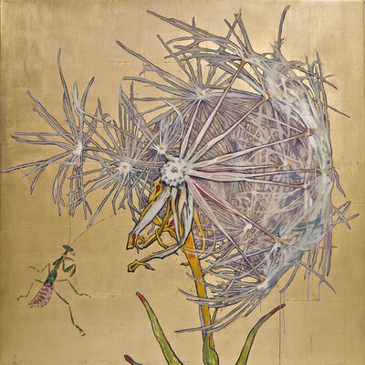 Hung Liu 刘虹, 'Dandelion - Praying Mantis', 2017