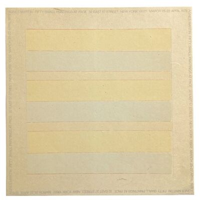 Agnes Martin, 'Agnes Martin Fifty Small Paintings At Pace', 1978