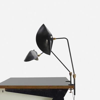 Serge Mouille, 'Agrafee deux rotules lamps, pair', 1958