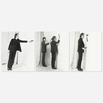 Jürgen Klauke, 'Formalisierung der Langeweile (triptych)', 1980-81