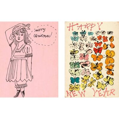 Andy Warhol, 'MERRY CHRISTMAS; HAPPY NEW YEAR', circa 1955