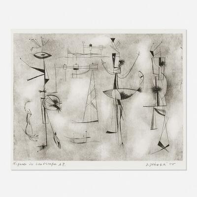 Dorothy Dehner, 'Figures in Landscape', 1955