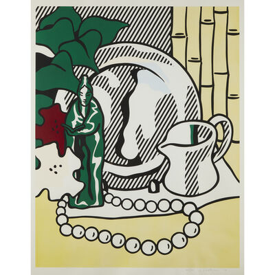 Roy Lichtenstein, 'Still Life with Figurine, from Six Still Lifes', 1974