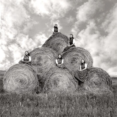 Laura Wilson, 'Hutterite Girls During Hay Making Season, Surprise Creek Colony Stanford, Montana, August 22, 1991'