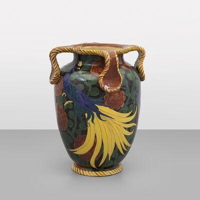 Manlio Trucco, 'A large maiolica vase  Albisola', 1920's