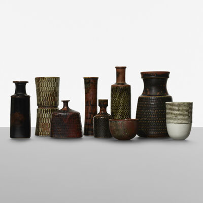 Stig Lindberg, 'Collection of nine vessels', c. 1955