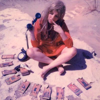 Clare Marie Bailey, '24 hr Psychic Desert Hotline - Contemporary, Polaroid, Photograph, Figurative, Women, 21st Century', 2018
