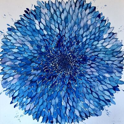 Idoline Duke, 'Big Blue Flower Panel', 2019