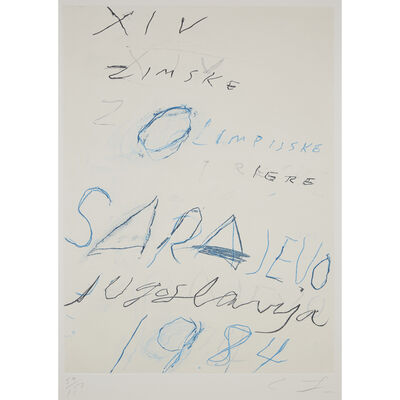 Cy Twombly, 'Untitled, from the Art and Sports portfolio', 1983