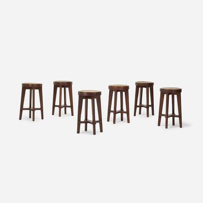 Pierre Jeanneret, 'stools from Punjab University, Chandigarh, set of six', c. 1965