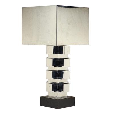 C. Jere, 'Large geometric table lamp', 1980s