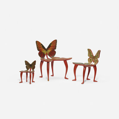 Pedro Friedeberg, 'Set of three miniature Butterfly chair models', c. 1970