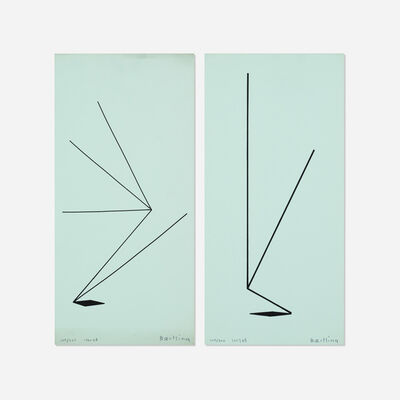 Olle Baertling, 'Untitled (two works from The Angles of Baertling - Open Form, Infinite Space portfolio)', 1957, 68/1961, 68