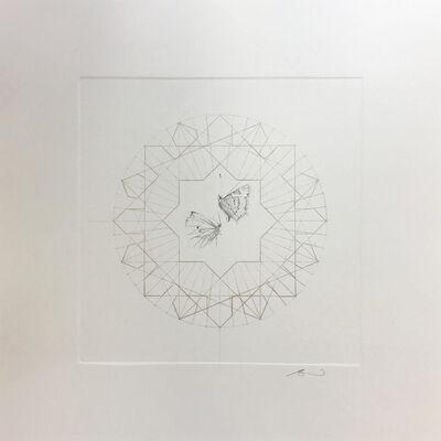 Jessica Albarn, 'Meadow Butterflies in gold', 2017